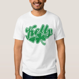 Shamrock mignon d'Irlandais de Kelly Tee-shirts