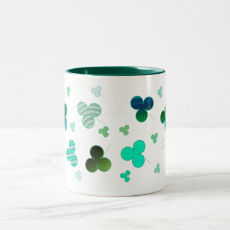 Shamrock Mug! Two-Tone Coffee Mug