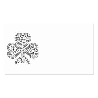 Shamrock noir et blanc carte de visite standard