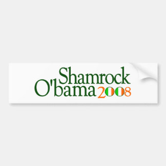 Shamrock Obama 2008 Bumper Sticker