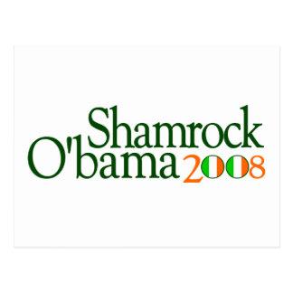 Shamrock Obama 2008 Postcard