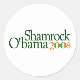 Shamrock Obama 2008 Round Sticker