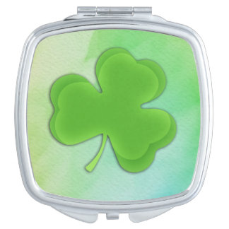 Shamrock on Watercolor Mirror For Makeup