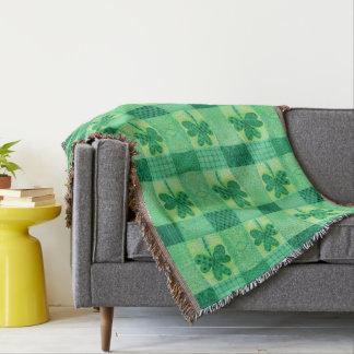 Shamrock Patchwork Throw Blanket