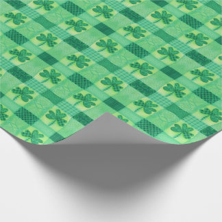 Shamrock Patchwork Wrapping Paper