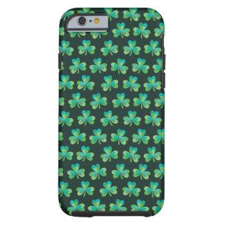 Shamrock Pattern Black iPhone 6/6S Tough Case
