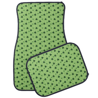 Shamrock Pattern Car Mat Set