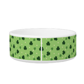 Shamrock Pattern Ceramic Pet Bowl