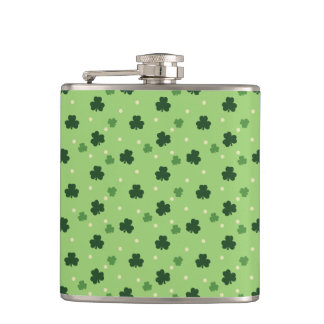 Shamrock Pattern Flask