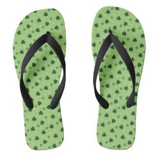 Shamrock Pattern Flip Flops