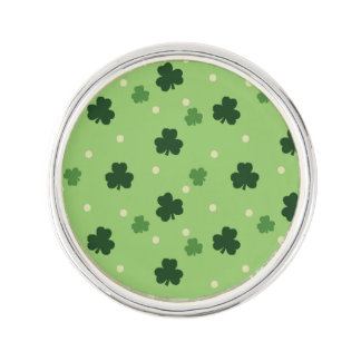 Shamrock Pattern Lapel Pin