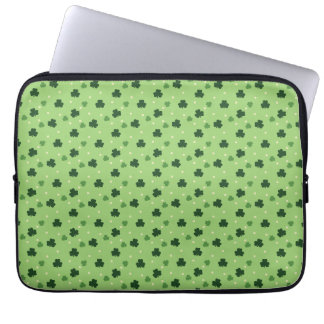 Shamrock Pattern Laptop Sleeve