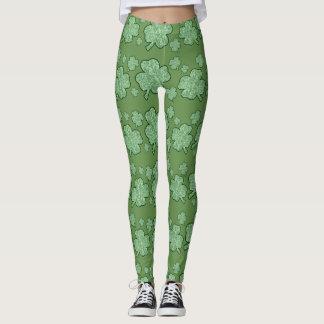 shamrock pattern leggings