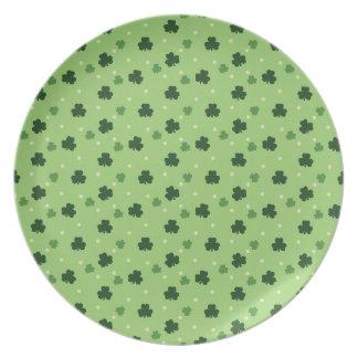 Shamrock Pattern Melamine Plate