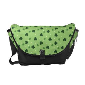 Shamrock Pattern Messenger Bag