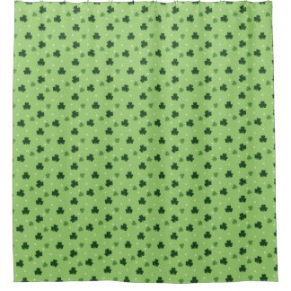 Shamrock Pattern Shower Curtain