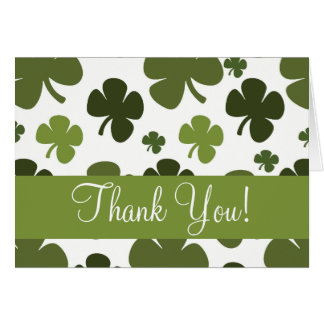 Shamrock Pattern Thank You Card