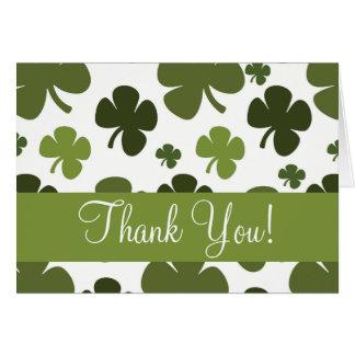 Shamrock Pattern Thank You Card