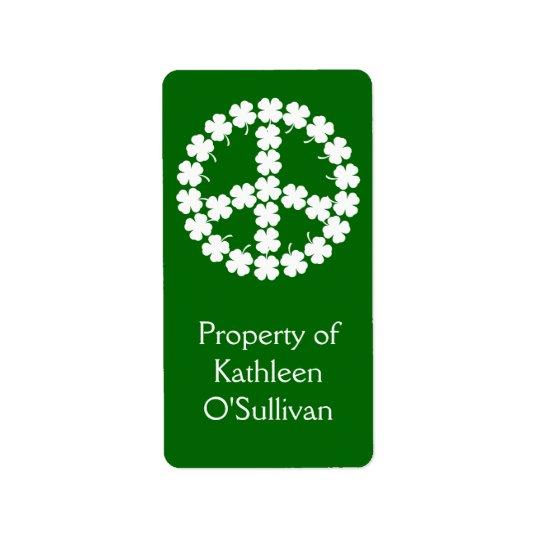 Shamrock Peace Symbol