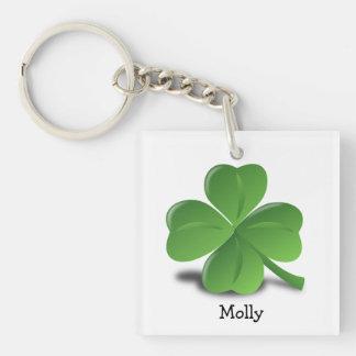 Shamrock personalized St Patrick's keychain