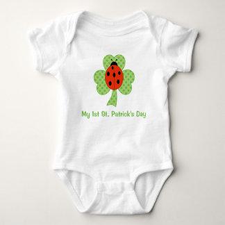 Shamrock Polka dots Ladybug | 1st St. Patricks Day Baby Bodysuit