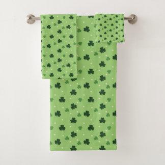 Shamrock Print Bath Towel Set