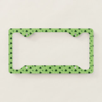 Shamrock Print License Plate Frame