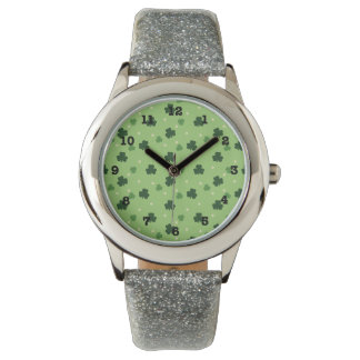 Shamrock Print Wrist Watch