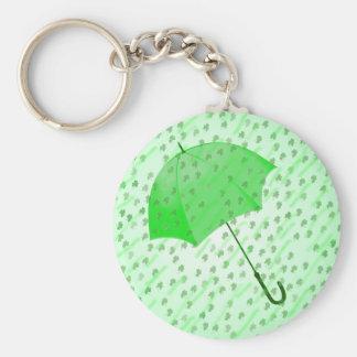 SHAMROCK RAIN by SHARON SHARPE Keychain