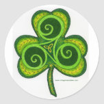 Shamrock Round Sticker