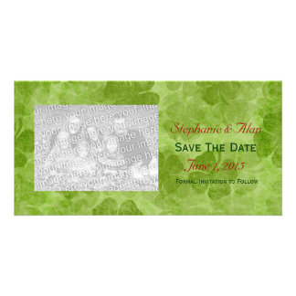 Shamrock Save The Date PhotoCards Personalized Photo Card