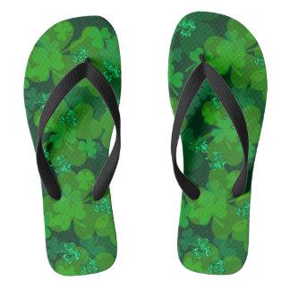 Shamrock Sparkel Flip Flops