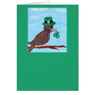 Shamrock Sparrow St. Patrick's Day Card