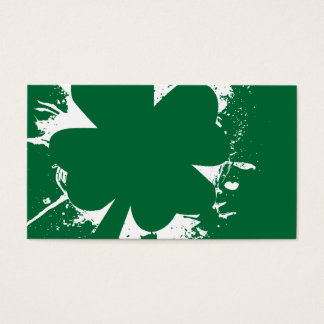 Shamrock Splatter Business Card