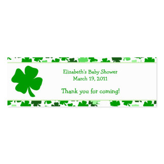 Shamrock St. Patricks Day Custom Favor Tag Mini Business Card