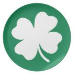 Shamrock  St Patricks Day Ireland Party Plate