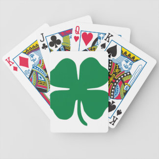 SHAMROCK ST PATRICK'S DAY TRUCKER HAT BICYCLE PLAYING CARDS