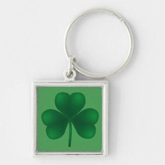 Shamrock St Patricks Irish Premium Keychain