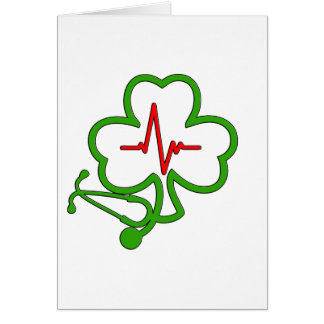SHAMROCK STETHOSCOPE WITH HEARTBEAT CARD