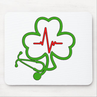 SHAMROCK STETHOSCOPE WITH HEARTBEAT MOUSE PAD