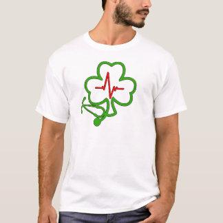 SHAMROCK STETHOSCOPE WITH HEARTBEAT T-Shirt