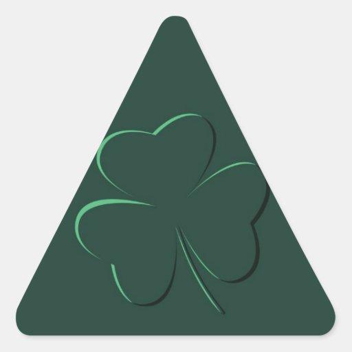 shamrock triangle sticker