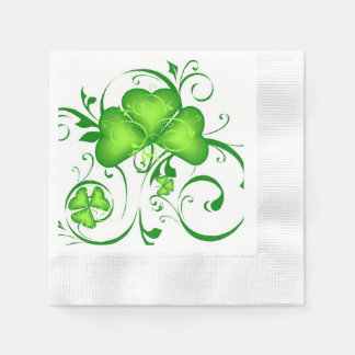 Shamrock Swirl Napkins Paper Napkins