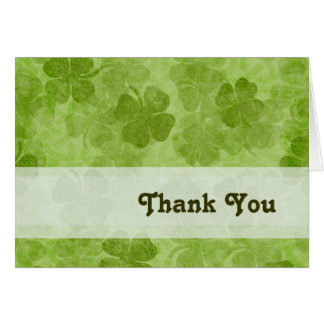 Shamrock Thank You card