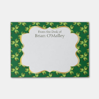 Shamrock Three Leaf Clover Graphic Post-it Notes