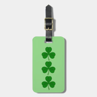 Shamrock Trio Luggage Tag
