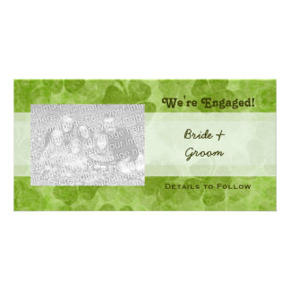 Shamrock We're Engaged Photo Cards