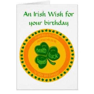 Ireland birthday cards ireland birthday greeting cards ireland shamrock wishes card m4hsunfo Gallery
