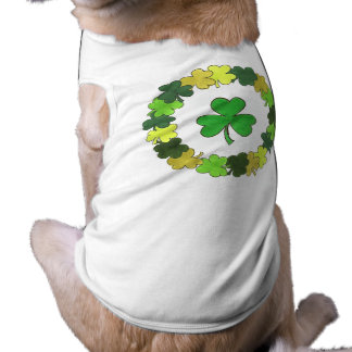 Shamrock Wreath Lucky St. Patrick's Day Dog Tee