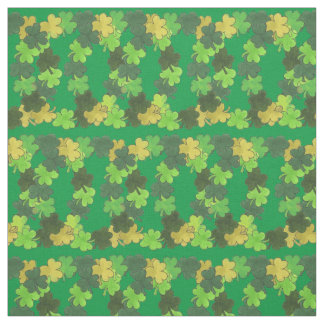 Shamrock Wreaths Green Clover St. Patrick's Fabric